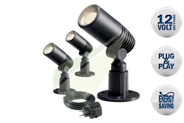 Kertbarátok Webáruház - TECHMAR Alder szett 3 kerti spot lámpa
