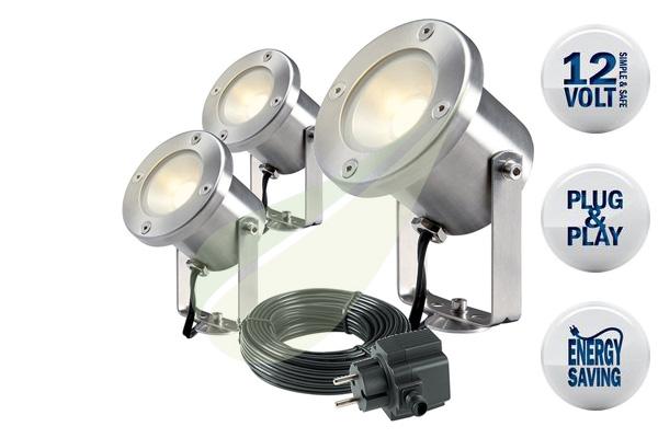Catalpa szett 3  kerti spot lámpa