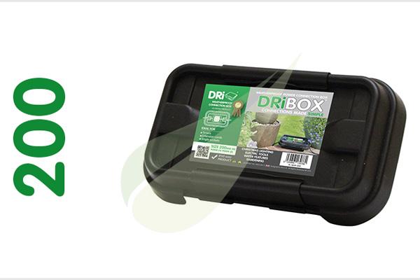 Dribox 200 fekete kültéri csatlakozó doboz