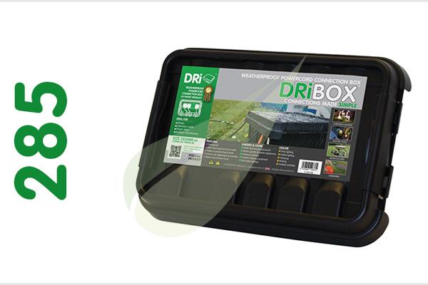 Dribox 285 fekete kültéri csatlakozó doboz