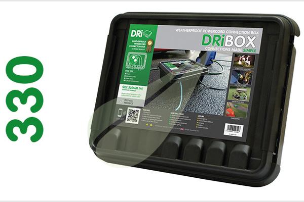 Dribox 330 fekete kültéri csatlakozó doboz