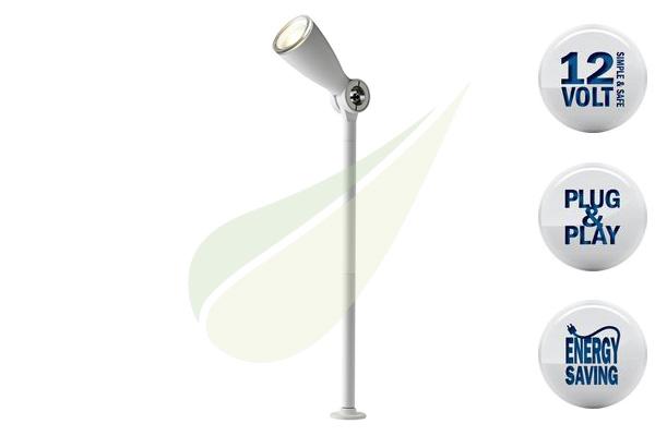 Kertbarátok Webáruház - TECHMAR Flo White kerti spot lámpa