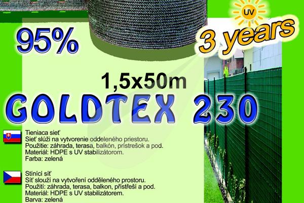 GoldTex árnyékoló háló 1,5x50m árnyékoló háló