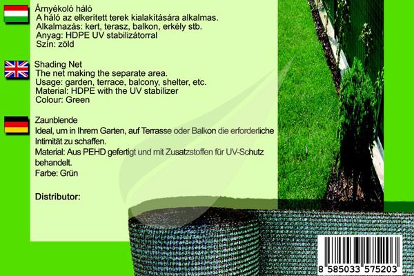 Kertbarátok Webáruház -  GoldTex árnyékoló háló 2x10m árnyékoló háló 2
