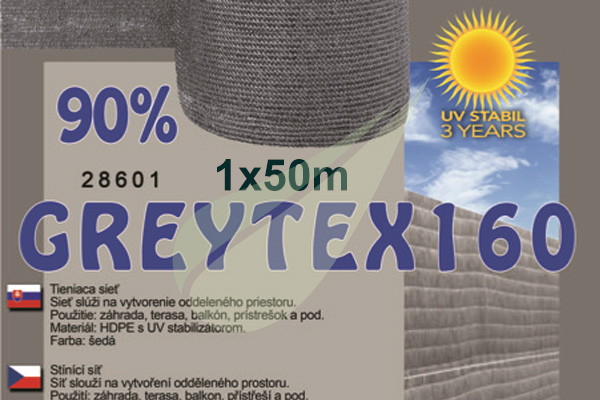 GreyTex árnyékoló háló 1x50m árnyékoló háló