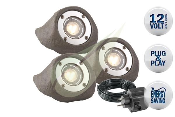 Kertbarátok Webáruház - TECHMAR Lapis szett 3 vízalatti spot lámpa