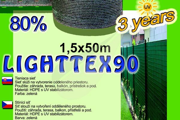 LightTex árnyékoló háló 1,5x50m árnyékoló háló