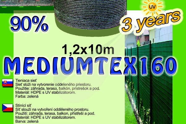 MediumTex árnyékoló háló 1,2x10m árnyékoló háló