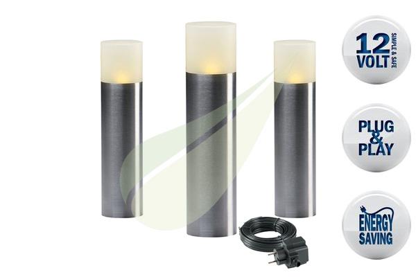 Kertbarátok Webáruház - TECHMAR Oak szett 3 álló kerti lámpa